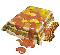 Pancakes, Butter & Syrup Quilt with Bacon Rug