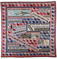 Tabloid Baby Quilt by Katherine Knauer