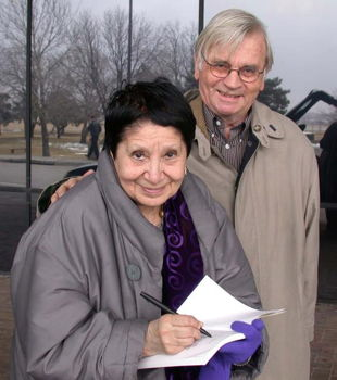 Radka Donnell with her husband Dolf Voght