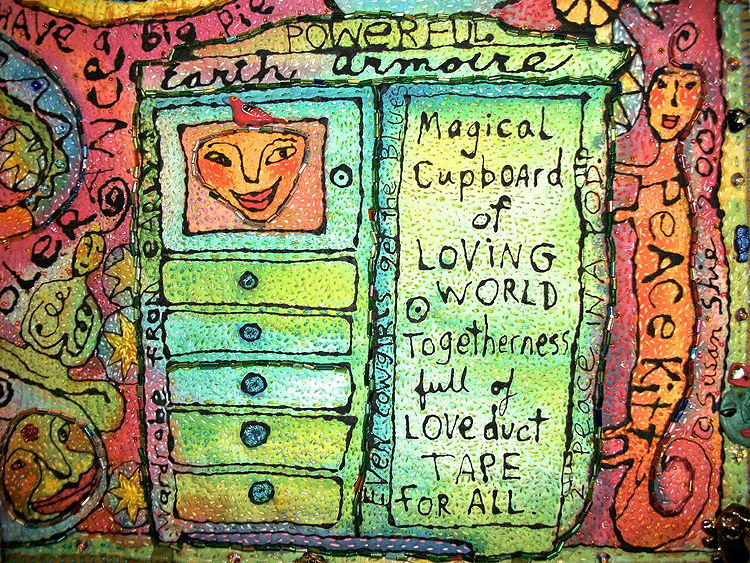 Detail of Peace Cupboard by Susan Shie