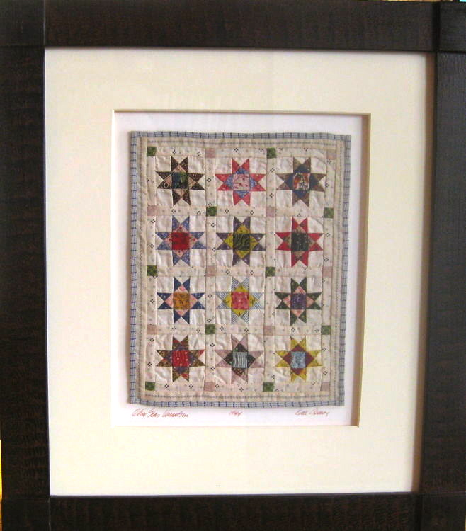 The Art of the Quilt: Ohio Star Variation miniature quilt by Kate ... : framed quilt art - Adamdwight.com