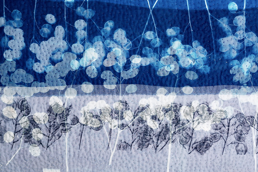 Detail of Honesty Skyline by Pauline Burbidge
