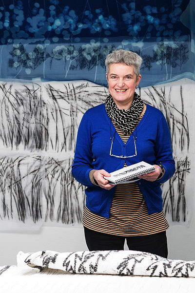 Pauline Burbidge with Honesty Skyline